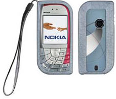 nokia 7610. nokia 7610 grey xpress on cover cc-202d